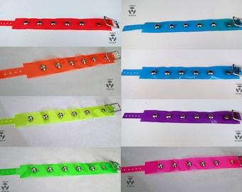 UV-Reactive Vinyl Cuff Bracelets - DOMES