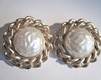 Sarah Coventry Faux Pearl Clip Earrings