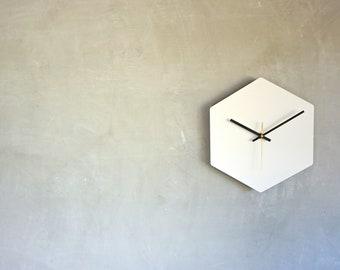 Minimalist Hexagonal Wall Clock