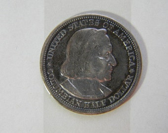 COIN, 1893, US, World's Columbian Exposition Chicago, Commemorative  Silver Half Dollar