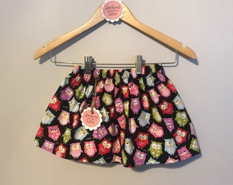 Sleepy Owls – Handmade Skirt – Ready to Ship