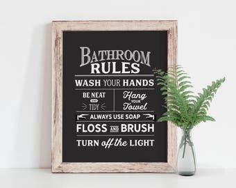 Bathroom Art | Etsy