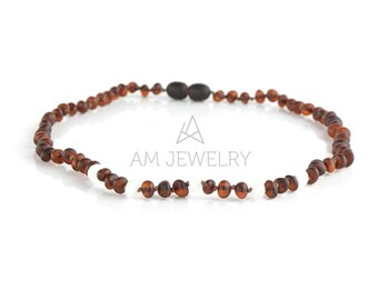 Teething Necklace, Amber Necklace, Baltic amber Necklace, Baby Teething, 34 cm, 8248
