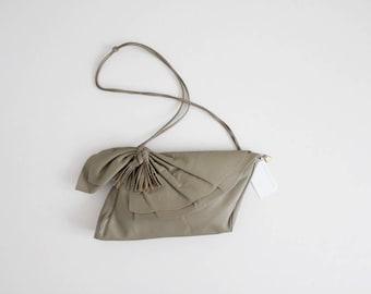 SALE | leather tassel bag | taupe leather purse | leather shoulder bag
