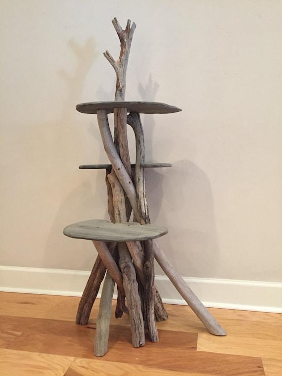 arbre a chat en bois flotte