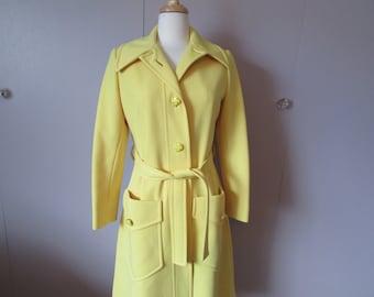 Yellow Fashionbilt Spring Coat