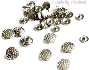 Jeans Stud set of 5 metal buttons