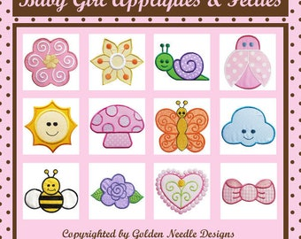 Baby Girl Appliques and Felties Machine Embroidery Designs