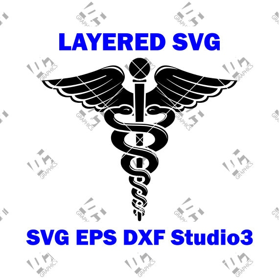 Medical Doctor Caduceus Symbol Medical Logo Cutting File