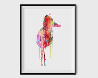 Printable Art, Instant Download, Abstract Bird Painting, Printable Wall Art, Nursery Decor, Modern Art, Wall Prints, Digital Download