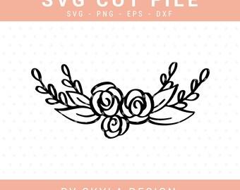 Floral svg cut file, Svg clipart, Flower Svg, Floral clipart, Wreath Svg, Flourish Svg, svg cutfile, svg cut file for cricut, silhouette