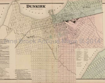 Dunkirk map Etsy