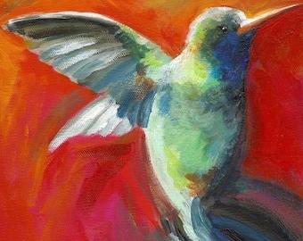 Nectar- Archival print, hummingbird art