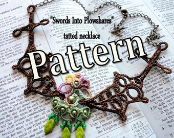 "Tatting Pattern ""Swords Into Plowshares"" PDF Instant Download"