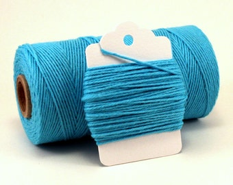 Aqua Twine - Blue Twine - Aquamarine String - Blue Cotton Baker's Twine - Turquoise String - Divine Twine - Aqua String - Something Blue