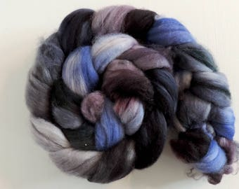 Merino Nylon,Sturm Reiter, superwash Sock Blend,handbemalte Fasern zum Spinnen,100g Kammzug