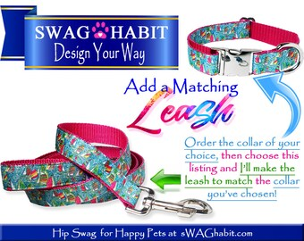 Matching Leash | Dog Leash | Dog Lead | 3 Foot Leash | 4 Foot Leash | 5 Foot Leash | 6 Foot Leash | 4 Foot Lead | 5 Foot Lead | 6 Foot Lead