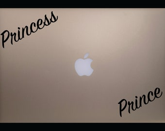 Princess / Prince Vinyl Decal for Computer / Car / Window / Mirror and More!