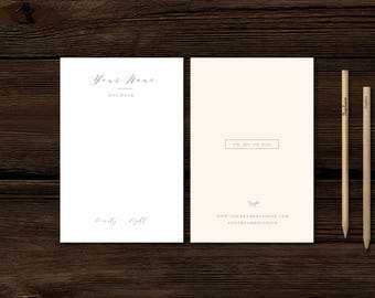 Thank You Card Template - Modern Calligraphy Style Designs for Photographers - Photoshop Templates - Aspen