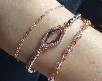 Rosé gold bracelets