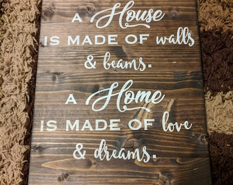 House of Love and Dreams Plaque