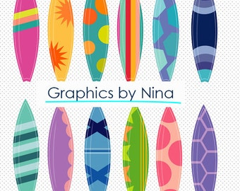 INSTANT DOWLOAD  60% 0ff Surfboards clipart  Scrapbook for Personal and Commercial Use