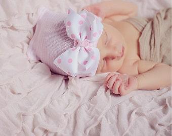 Baby girl hat, baby girl, newborn girl hat, infant girl hat, hospital newborn hat, newborn hat, infant hat, baby hat, baby bow