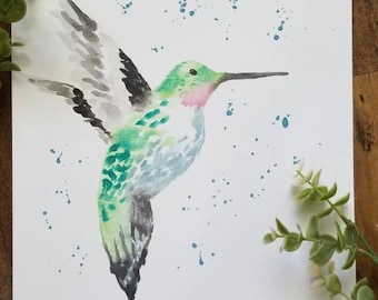 SALE* Hummingbird Watercolor