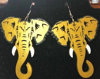 Carnival Elephant Earrings