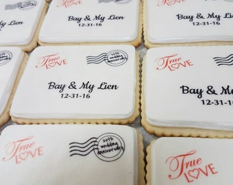 Personalized Wedding Invitation Cookie Favors