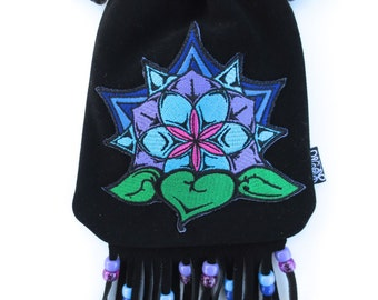 LoopyQ Limited Edition Black Lotus Decal Pouch, designed by StarStepe Designs
