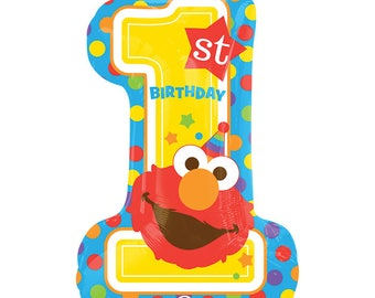 SHIPS FAST - Elmo Birthday Party Balloon, Sesame Street Birthday Party, Elmo Party, Sesame Street Party Decorations, Elmo Party Decorations