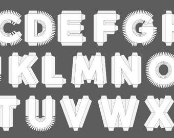 Complete set numbers 0 9 18 3d cardboard number complete set alphabeta z 18 3d cardboard letter templates expocarfo