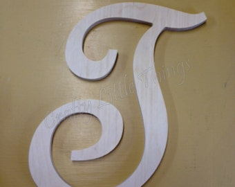 16 inch French Script wooden letters