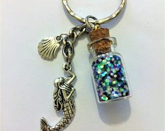 Mermaid keyring, Mermaid keychain, Mermaid scale, Mermaid gift item 796 by CraftyLittleMonkeyGB