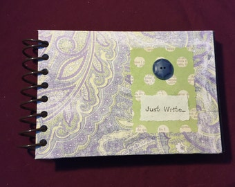 Journal, Journal Prompts, Prompt Journal, Gift Journal, Lavender Journal, Paisley Journal, Purple Journal