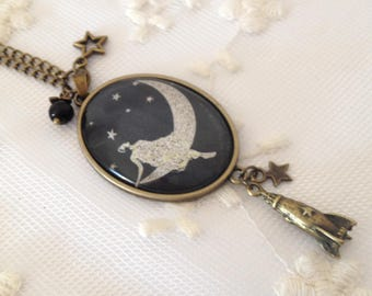 Cameo Necklace on the moon.