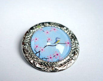 Flower brooch, Sakura