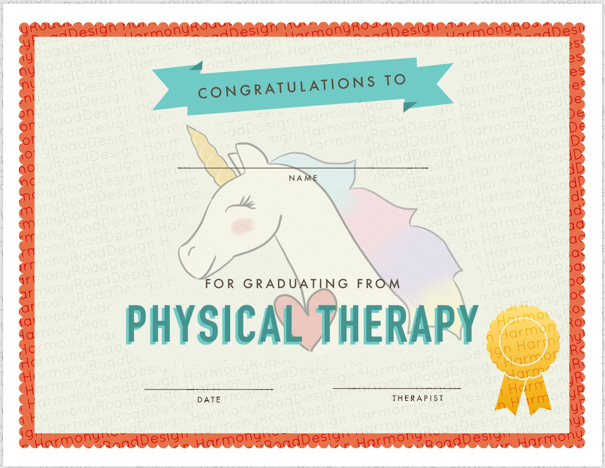 Physical Therapy Graduation Certificate Template Girls