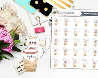 Cinnamon Loves Coffee | for use with Erin Condren Lifeplanner™, Filofax, Personal, A5, Happy Planner