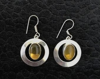 Dangle & Drop Citrine Earrings