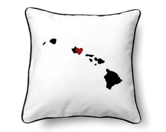Hawaii Pillow - Hawaii Gift - Hawaii Map - HI State Map