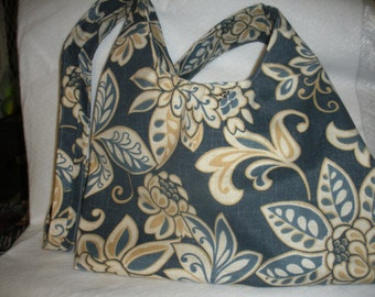 Blue Floral Hobo Across the Body Bag
