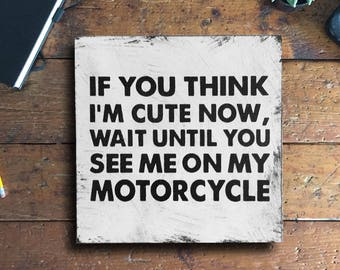 Motorcycle Sign, Motorcycle Wall Art, Gift for Him, Motorcycle Art, Gift for Dad, Motorcycle Decor, Motorcycle Lover, Guy Gift, Father's Day