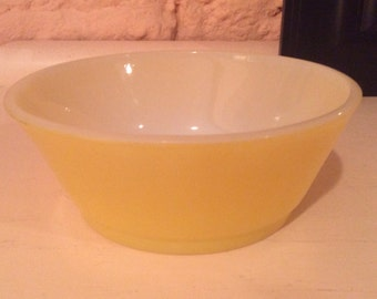 Yellow Fire King/Anchor Hocking Cereal Bowl