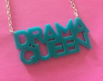 Drama Queen Acrylic Necklace
