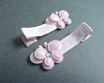Baby Pink Butterfly Hair Clips Light Pink Hair Clips Soft Pink Faint Pink Baby Girl Easter Hair Clips Spring Hair Clips Summer Baby Bows