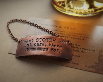 Copper Bottle Tag, Decanter Tag, Personalised Bottle Tag, Custom Decanter Tag, Personalised Gift, Anniversary, Birthday, Father's Day