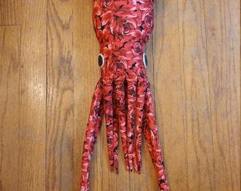 Red Rose Squid Plush