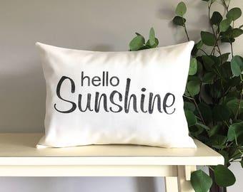 Hello Sunshine Pillow, Decorative Pillow, Rustic Home Decor, Accent Pillow, Personalized Pillow, Rustic Decor, Gift, Farmhouse Decor